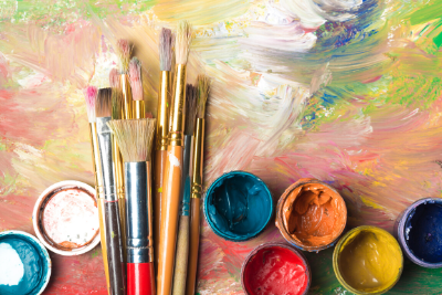 Paint and brushes   Art Therapy in Columbus