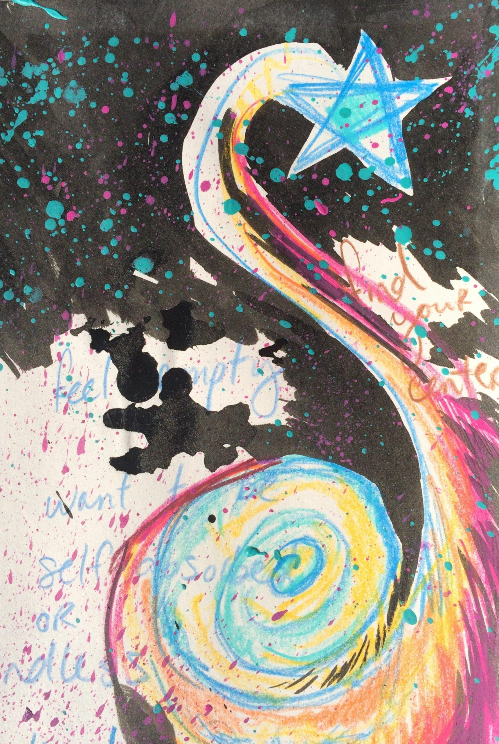 Shooting star art   Dream Interpretation Art